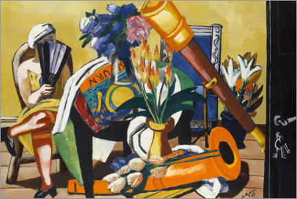 Juliste  Large still life with telescope - Max Beckmann