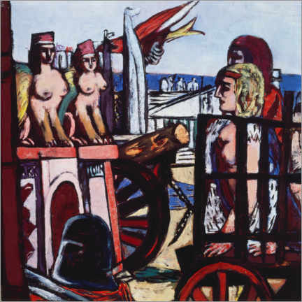 Galleriataulu  Removal of the sphinxes - Max Beckmann