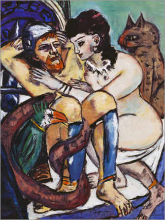Canvas-taulu  Odysseus and Calypso - Max Beckmann