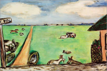Akryylilasitaulu  Green meadow with cows - Max Beckmann