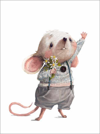 Juliste Greetings from the mouse