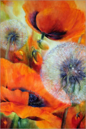 Juliste Poppies and dandelions