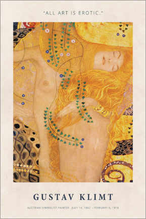 Juliste  Gustav Klimt - Art is erotic - Museum Art Edition