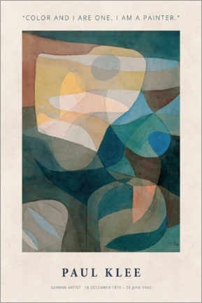 PVC-taulu  Paul Klee - Color and I - Museum Art Edition