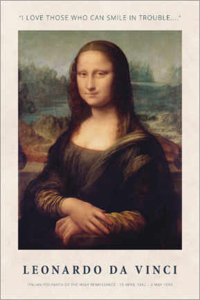 Galleriataulu  Leonardo da Vinci - Smile in Trouble - Museum Art Edition