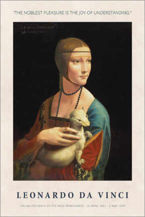 Sisustustarra  Leonardo da Vinci - The joy of understanding - Museum Art Edition