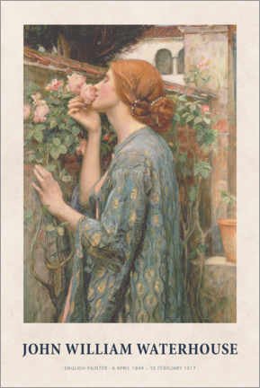 Juliste  John William Waterhouse - The Soul of the Rose - Museum Art Edition