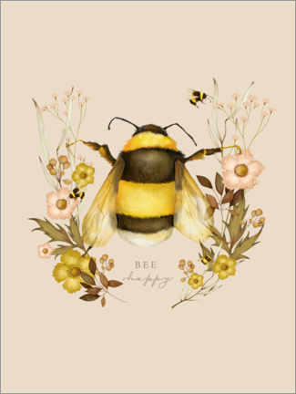 Juliste Floral with bee