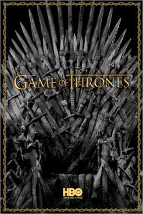 Juliste  Game of Thrones - The Iron Throne - gold