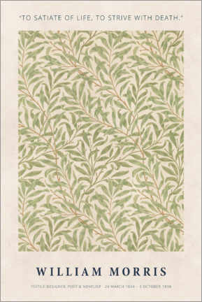 Alumiinitaulu  William Morris - Satiate with life - Museum Art Edition