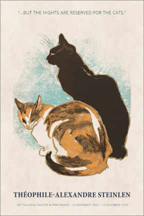 Galleriataulu  Théophile-Alexandre Steinlen - Reserved for the cats - Museum Art Edition