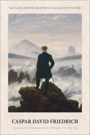 Puutaulu  Caspar David Friedrich - Dialogue with nature - Museum Art Edition