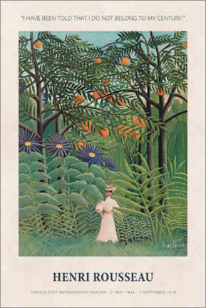 Sisustustarra  Henri Rousseau - Not belong to my century - Museum Art Edition