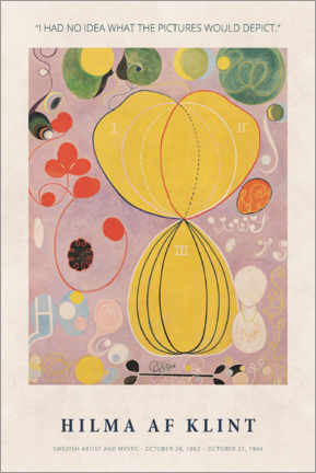 Alumiinitaulu  Hilma af Klint - I had no idea - Museum Art Edition