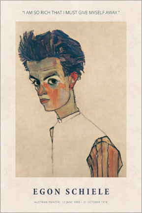 Alumiinitaulu  Egon Schiele - I am so rich - Museum Art Edition