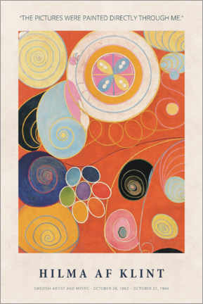 Galleriataulu  Hilma af Klint - Directly through me - Museum Art Edition