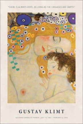 Juliste  Gustav Klimt - There is always hope - Museum Art Edition