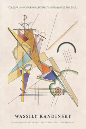 Puutaulu  Wassily Kandinsky - Colour is a power - Museum Art Edition