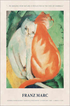 Juliste  Franz Marc - In the eyes of animals - Museum Art Edition