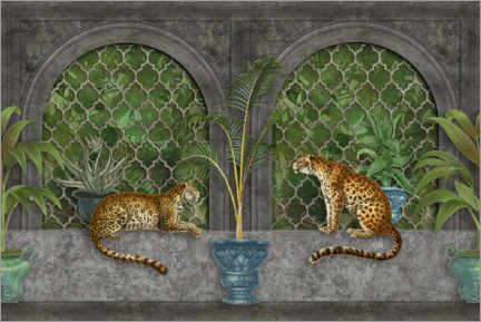 Canvas-taulu  Cheetahs in the jungle palace - Andrea Haase
