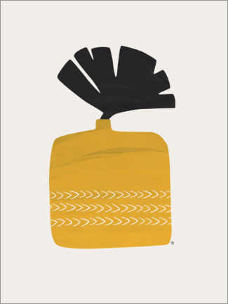 Canvas-taulu  Plant in Yellow Ochre Pot - Tracie Andrews