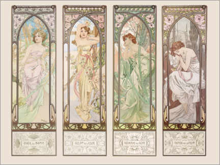 Sisustustarra  The Times of the Day - Alfons Mucha