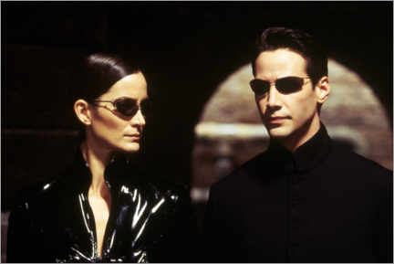 Canvas-taulu  The Matrix Reloaded - Neo and Trinity