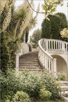 Akryylilasitaulu  French Vintage Garden Steps In The South Of France - Henrike Schenk