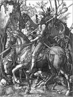 Alumiinitaulu  Knight, death and devil - Albrecht Dürer