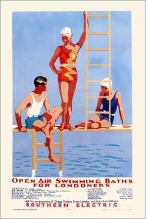 Puutaulu  Open Air Swimming Baths for Londoners - English School