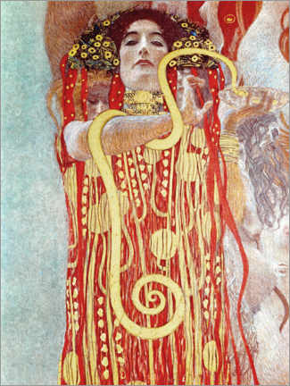 Puutaulu  Hygieia detail from the medicine - Gustav Klimt