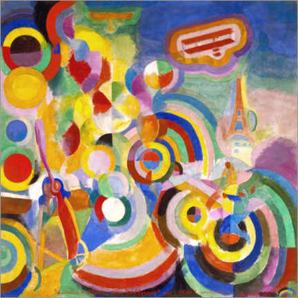 Canvas-taulu  Homage to Blériot - Robert Delaunay