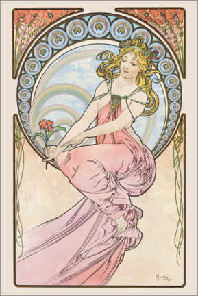 Akryylilasitaulu  The Arts - Painting - Alfons Mucha