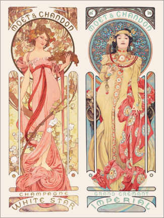 Juliste  Moet & Chandon - Alfons Mucha