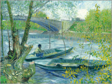 Akryylilasitaulu  Angler and boat at the Pont de Clichy - Vincent van Gogh