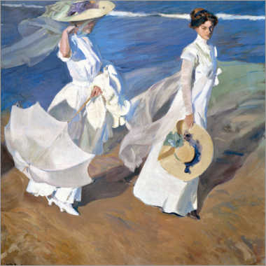 Juliste  Strolling along the seashore - Joaquín Sorolla y Bastida