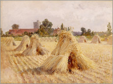 Galleriataulu  Corn Stooks by Bray Church - Hardy Heywood