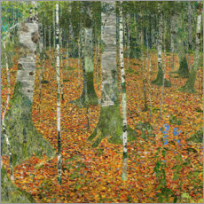 Juliste  The birch wood - Gustav Klimt