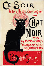 Galleriataulu  Chat Noir (Black Cat - French) - Théophile-Alexandre Steinlen