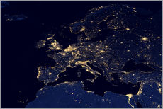 Sisustustarra  Europe at night - NASA