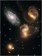 Sisustustarra  Stephan's Quintet galaxies, HST image - NASA