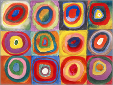 Galleriataulu  Colour study - squares and concentric rings - Wassily Kandinsky