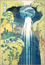 Galleriataulu  Waterfall of Amida at the Kiso Street - Katsushika Hokusai