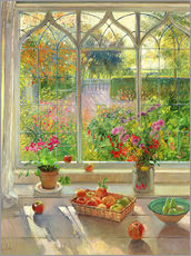 Galleriataulu  Overlooking the garden - Timothy Easton