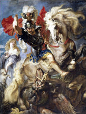 Canvas-taulu  St. George and the Dragon - Peter Paul Rubens