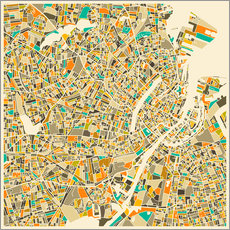 Galleriataulu  Copenhagen Map - Jazzberry Blue