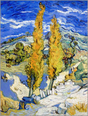 Canvas-taulu  Two Poplars on a Hill - Vincent van Gogh