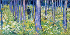 Canvas-taulu  Undergrowth with Two Figures - Vincent van Gogh