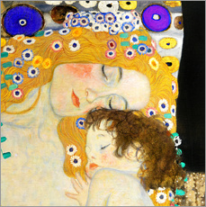 Galleriataulu  Mother and Child (detail) - Gustav Klimt