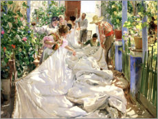PVC-taulu  Mending the sails - Joaquín Sorolla y Bastida